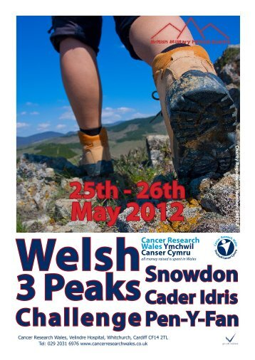 Welsh 3 Peaks Challenge - Cancer Research Wales