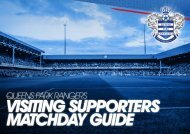 Visiting Supporters Matchday Guide