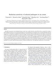 Radiation sensitivity of selected pathogens in ice cream - Food ...