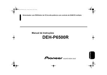 Pioneer DEH-P6500R - User manual - portugais