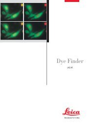 Leica Dye Finder - Department of Cell Biology and Molecular Genetics