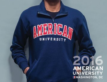 American University: 2016 Undergraduate Viewbook