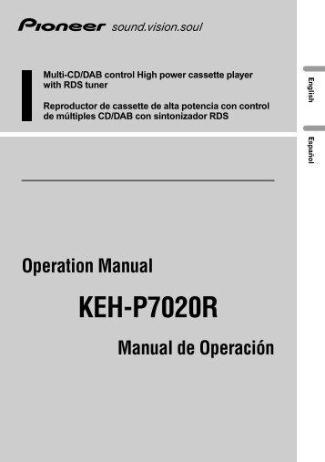 Pioneer KEH-P7020R - User manual - anglais, espagnol