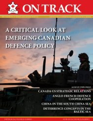 A CRITICAL LOOK AT EMERGING CANADIAN DEFENCE POLICY