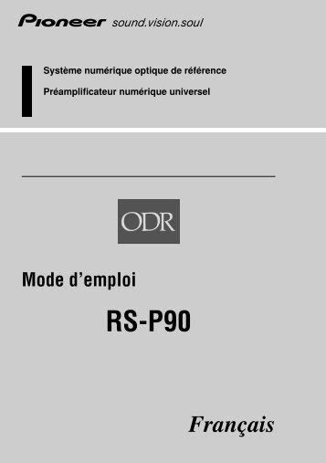 Pioneer RS-P90 - User manual - français