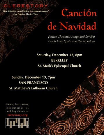 Festive Christmas songs and familiar carols from Spain ... - Clerestory