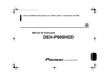 Pioneer DEH-P900HDD - User manual - portugais