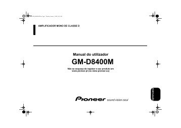 Pioneer GM-D8400M - User manual - portugais