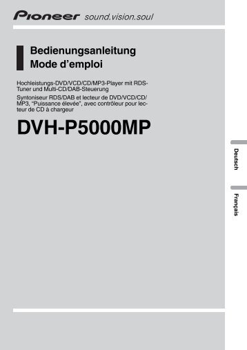 Pioneer DVH-P5000MP - User manual - allemand, français