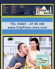 Speisekarte City Jena Pizza Service