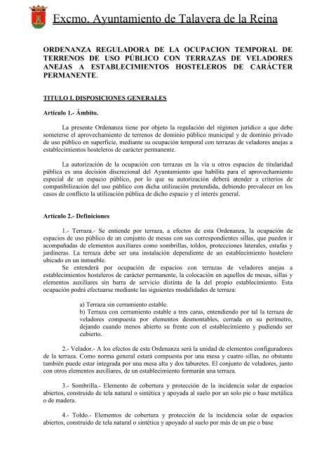 Excmo Ayuntamiento De Talavera De La Reina Isotools