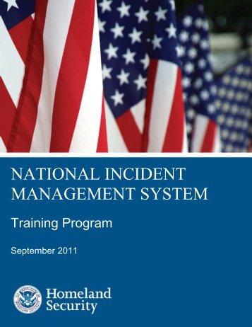 NIMS Training Program - Federal Emergency Management Agency