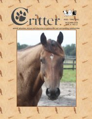 ALL PAGES-16-PAGE LAYOUT-OCTOBER 2012 - Critter Magazine