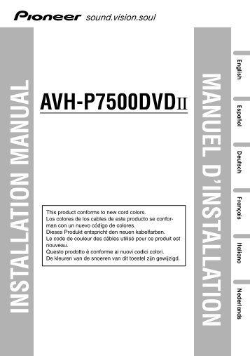 pioneer avh p7500dvdii installation manual allemand anglais espagnol franaais italien nacerlandais?quality=85 gb electrical wiring pioneer avic z1 wiring diagram at reclaimingppi.co