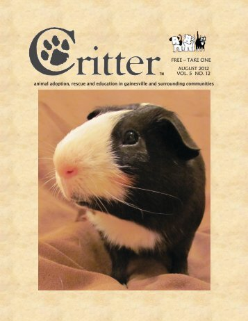 ALL PAGES-16-PAGE LAYOUT-AUGUST 2012 - Critter Magazine