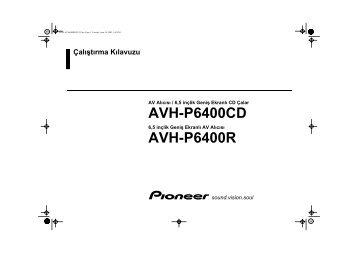 Pioneer AVH-P6400R - User manual - turc