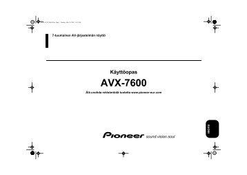 Pioneer AVX-7600 - User manual - finnois
