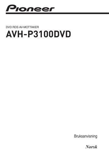 Pioneer AVH-P3100DVD - User manual - norvégien