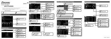 Pioneer AVH-P3100DVD - Quickstart manual - allemand, anglais, espagnol, français
