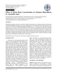 Effect of Wheat Bran Concentration on Xylanase Biosynthesis by ...
