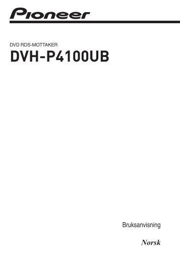 Pioneer AVH-P4100DVD - User manual - norvégien