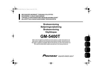 Pioneer GM-5400T - User manual - danois, finnois, norvégien, suédois