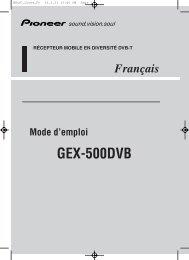 Pioneer GEX-500DVB - User manual - français