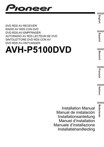 Pioneer Avh P3200dvd Installation Manual