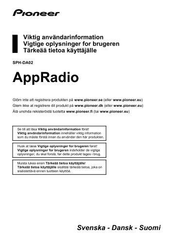 Pioneer SPH-DA02 - User manual - danois, finnois, suédois