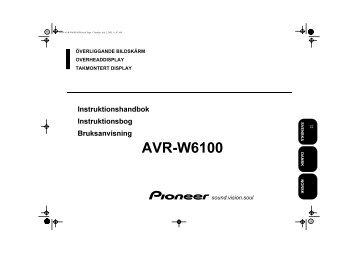 Pioneer AVR-W6100 - User manual - danois, norvégien, suédois