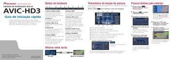 Pioneer AVIC-HD3 - Quickstart manual - portugais