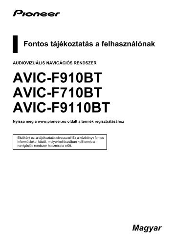 Pioneer AVIC-F910BT - Addendum - hongrois