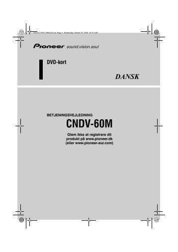 Pioneer CNDV-60M - User manual - danois