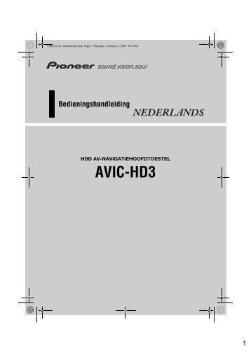 Pioneer AVIC-HD3 (RU) - Software manual - néerlandais