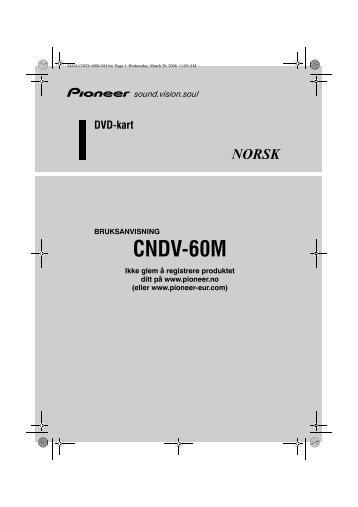 Pioneer CNDV-60M - User manual - norvégien