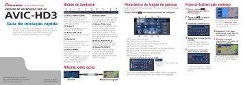 Pioneer AVIC-HD3 (RU) - Quickstart manual - portugais