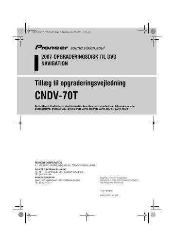 Pioneer CNDV-70T - User manual - danois