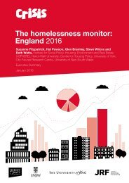 The homelessness monitor England 2016