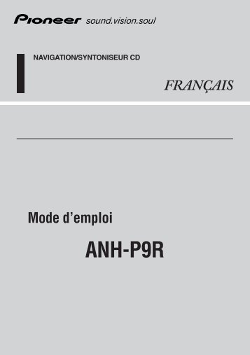Pioneer ANH-P9R-BK - User manual - français