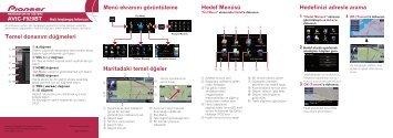 Pioneer AVIC-F920BT - Quickstart manual - turc