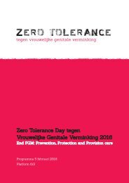 Zero Tolerance Day tegen Vrouwelijke Genitale Verminking 2016