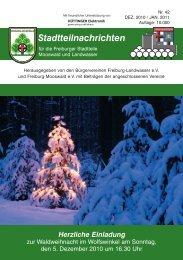 Stadtteilnachrichten Heft 42.qxp - Bürgerverein Freiburg Mooswald eV