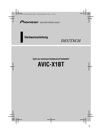 Pioneer AVIC-X1BT - Hardware manual - allemand