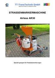 STRASSENMARKIERMASCHINE Airless AR30 - TT-TransTechnik ...