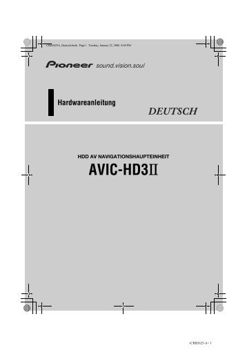 Pioneer AVIC-HD3-II - Hardware manual - allemand