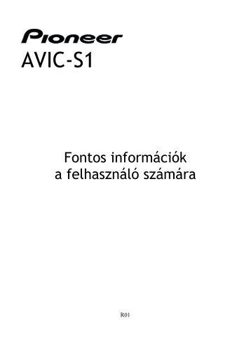 Pioneer AVIC-S1 - User manual - hongrois