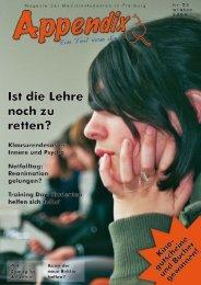 Appendix stellt sich vor - Offene Fachschaft Medizin Freiburg eV