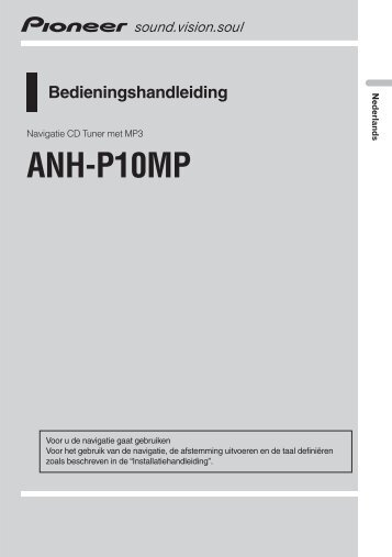 Pioneer ANH-P10MP - User manual - néerlandais