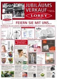 220 Jahre LOREY 2016 - Jubiläumsangebote