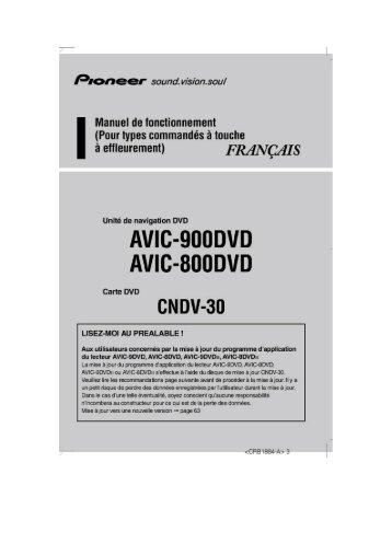 Pioneer AVIC-800DVD - User manual - français
